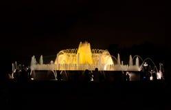 Illuminated fountain in Barcelona, fontana magica Royalty Free Stock Images