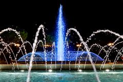Illuminated fountain Royalty Free Stock Photos