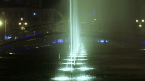 Illuminated fountain stock footage