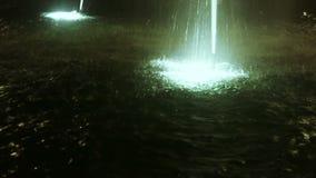 Illuminated fountain stock video