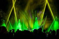 Illuminated fountain Stock Photo