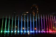 Illuminated fountain at Kuala Lumpur Royalty Free Stock Photo