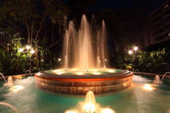 Illuminated fountain in Marbella Royalty Free Stock Image