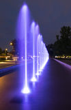 The illuminated fountain Royalty Free Stock Image