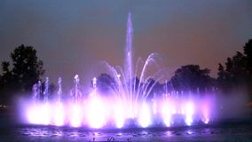 The illuminated fountain