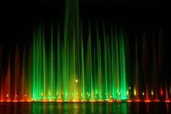 Illuminated fountain Stock Photography