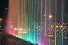 Illuminated fountains Royalty Free Stock Photos
