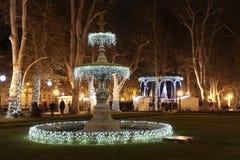 Illuminated fountains Stock Photography