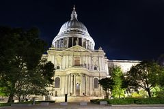 St Pauls Cathedral at night Royalty Free Stock Photo