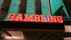 Illuminated gambling sign
