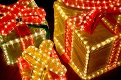 Illuminated Gift Royalty Free Stock Photo
