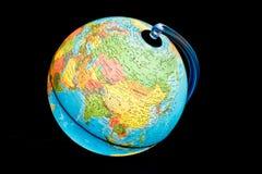 Illuminated Globe - Asia. Illuminated Globe on a black background royalty free stock images