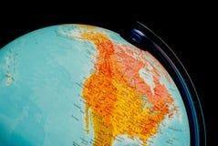Illuminated globe close up Stock Image