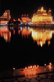 Illuminated Golden Temple,Amritsar,India. Golden Temple or Harminder Sahib,is one of the holiest shrines and culturally a significant places of worship for sikhs Stock Photography