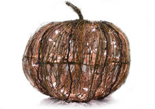Illuminated Grapevine Pumpkin Royalty Free Stock Images