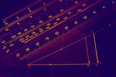 Illuminated graphics Stock Photo