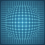 Illuminated Grid Sphere. Vector Illustration Stock Photo