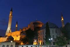 Illuminated Hagia Sofia Stock Photos