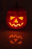 Illuminated halloween pumpkin Royalty Free Stock Photography
