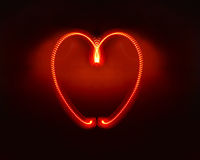 Illuminated Heart Royalty Free Stock Photo