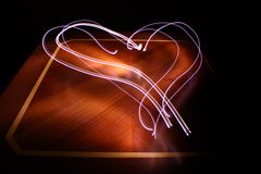 Illuminated heart sign Royalty Free Stock Image