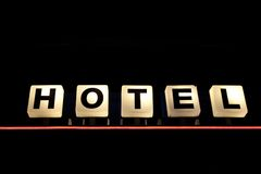Illuminated Hotel Sign Royalty Free Stock Photos