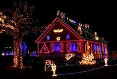 Illuminated house Royalty Free Stock Photos
