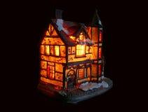 Illuminated house Royalty Free Stock Photography