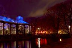 Illuminated house,light festival Amsterdam,Holland Royalty Free Stock Image