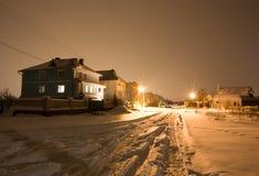 Illuminated house at winter Stock Photos