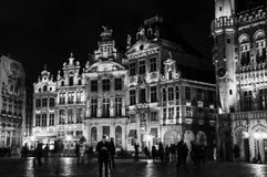 Grand place in Brussels at night Stock Image