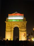 Illuminated India Gate,Delhi,India. Most of the public buildings are illuminated on the occasion of republic day (26th january Stock Images