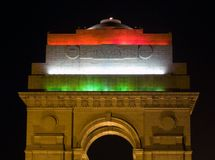 Illuminated India Gate,Delhi,India. Most of the public buildings are illuminated on the occasion of republic day (26th january Stock Photography