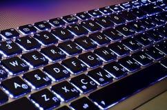 Illuminated keyboard Royalty Free Stock Photos