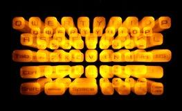 Illuminated Keyboard. Zooming effect of an illuminated Keyboard stock image