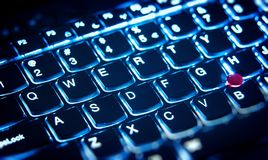 Illuminated keyboard Royalty Free Stock Images