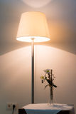 Illuminated lamp with flower Royalty Free Stock Images