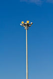 Illuminated lamp post Stock Image