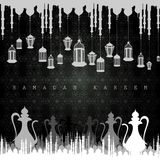Illuminated lamp for Ramadan Kareem Greetings for Ramadan background Royalty Free Stock Photo