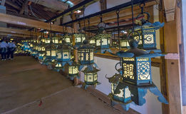 Illuminated lanterns at Kasuga-Taisha - Nara, Japan Royalty Free Stock Photo