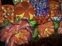 Chinese New year lanterns, illuminated night China Asia guangzhou public stock photo