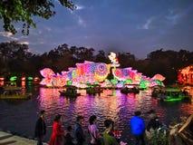 Chinese New year lanterns, illuminated night China Asia guangzhou public royalty free stock images
