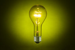 Illuminated Light Bulb Royalty Free Stock Photography