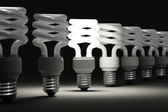 Illuminated light bulb Royalty Free Stock Photo
