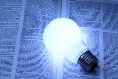 Illuminated light bulb Royalty Free Stock Images