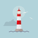 Illuminated lighthouse Stock Photography