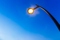 Illuminated lighting pole Royalty Free Stock Image