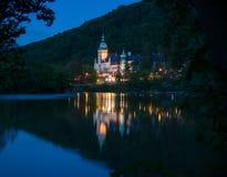 Illuminated Lillafured palace - Hungary Stock Photos