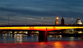 Illuminated London Bridge Royalty Free Stock Photo