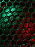Illuminated loudspeaker grid Royalty Free Stock Photos